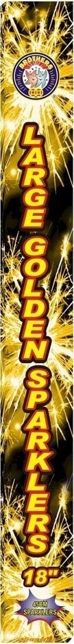 """18"""" Golden Sparklers by Brothers Pyrotechnics"""