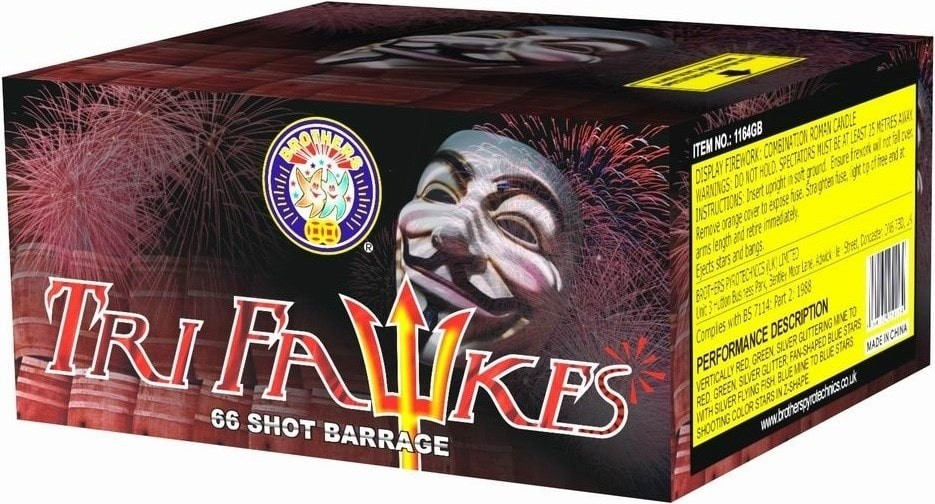 Tri Fawkes By Brothers Pyrotechnics